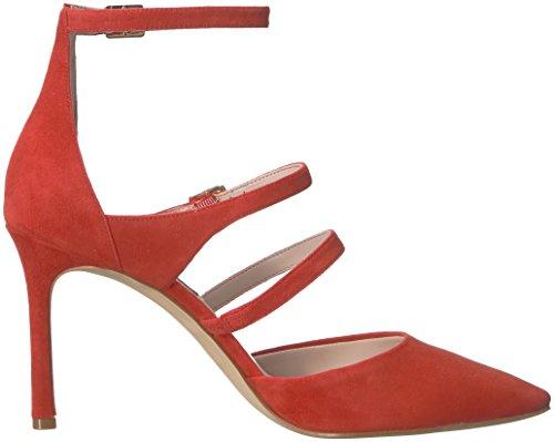 Incantevole Sandalo Rosso Donne Camoscio Nove Ovest Camoscio Delle Tacco qr7qv6n