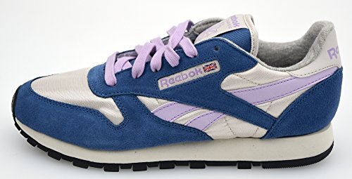 REEBOK ZAPATILLAS DEPORTIVAS PARA MUJER ART. CL LTHR V45830 38,5 EU - 8 USA - 5,5 UK BLUE/OFF WHITE/ORCHID/WHITE/BLACK