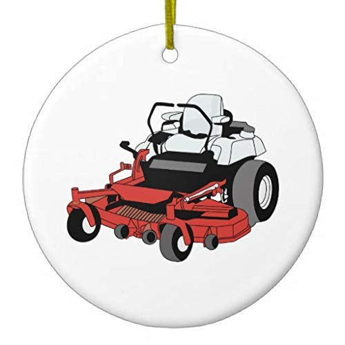 Delia32Agnes Lawnmower Christmas Ornaments Porcelain Ceramic for Christmas Decorations Indoor Home Gifts