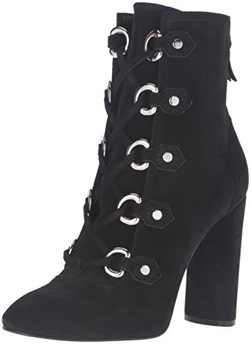 Casadei Women's Lace up Western Boot, Black, 38 EU/8 M (D-ring Lace Up Ankle Boot)