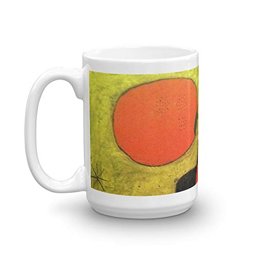 Joan Miro, Figures And Dog In Front Of The Sun, 1949 Artwork, Men, Women, Kids, Prints, Posters, Tshirts 15 Oz White Ceramic.15 Oz Mugs Makes The Perfect Gift For Everyone.