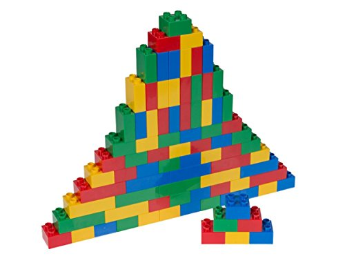 Strictly Briks - Big Briks Set - 84 Pieces - Blue, Green, Red, & Yellow - Compatible with All Major Brands - Large Building Blocks for Ages 3 and Up (Chair Price Rhino)