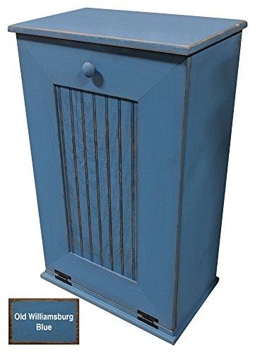 Mission Trash Bin - Sawdust City Tilt Out Trash Cabinet (Old Williamsburg Blue)