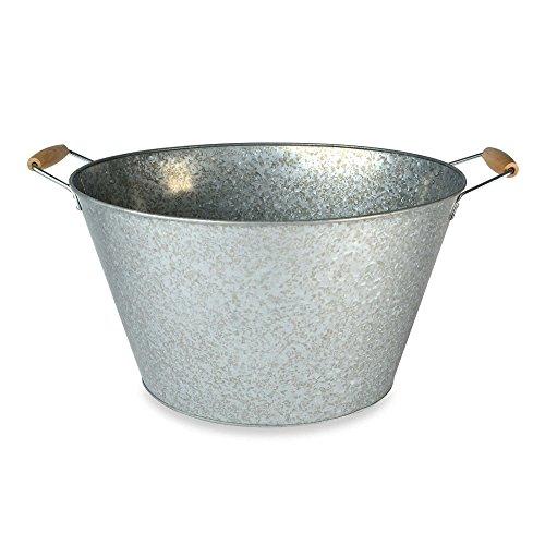 21″ L x 14″ W x 12″ H Artland Oasis Galvanized Steel Oval Party Tub