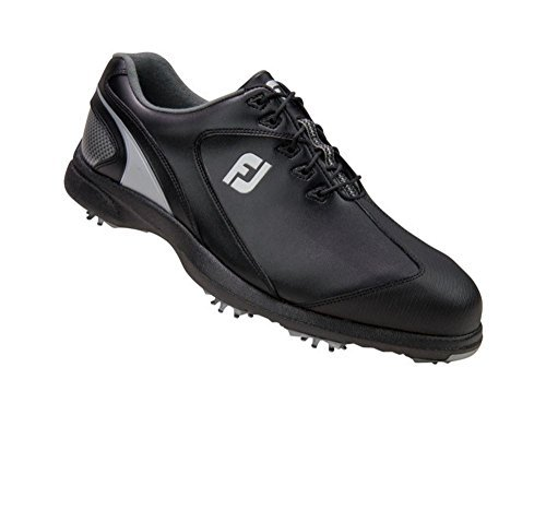 FootJoy Sport LT Golf Shoes (10, Black/Silver-M) by FootJoy (Image #2)