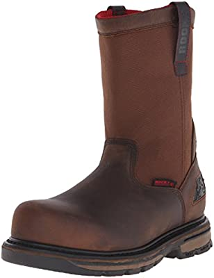 8b51dbcab54 Rocky Men's 10 Inch Hauler Composite Toe Work Boot, Brown, 9 W US ...