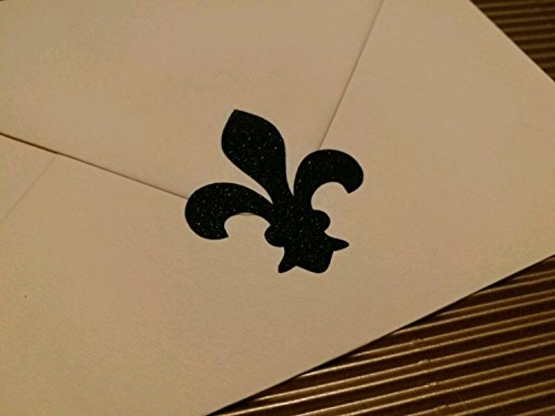 20 Fleur de Lis glitter stickers / fancy gift wrap / envelope seals / luxury invitation seals
