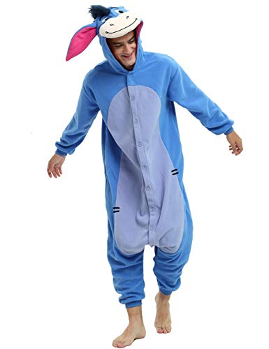 Es Unico Eeyore Onesie Pajama Costume for Adults and Teenagers (X-Large)
