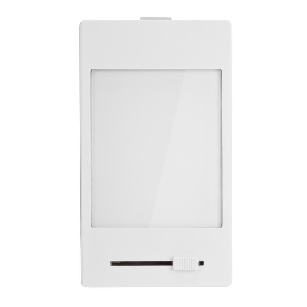 Hampton Bay White Manual Dimming Panel LED Night Light