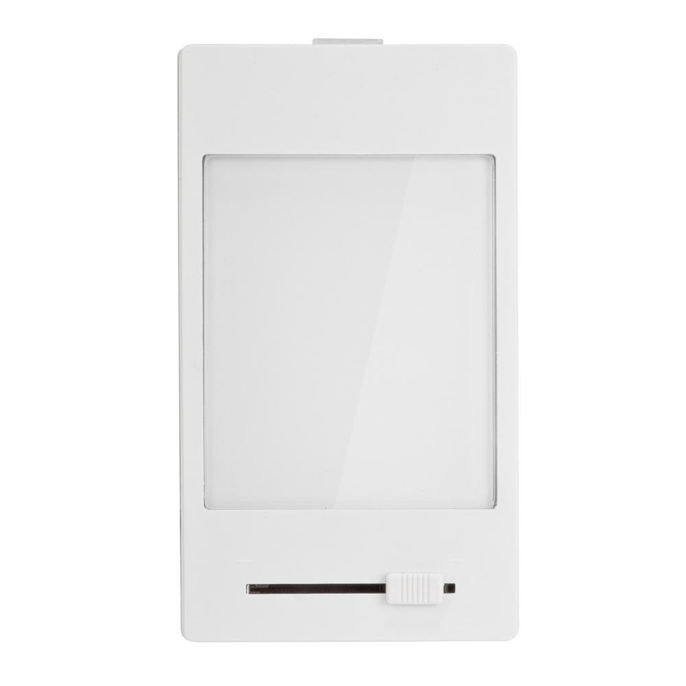 Hampton Bay White Manual Dimming Panel LED Night Light