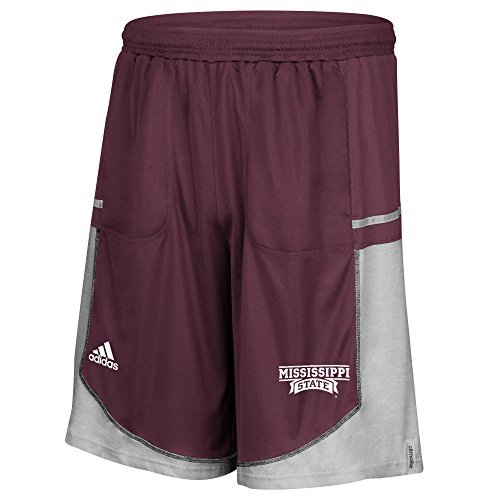 adidas NCAA Mississippi State Bulldogs Men's Sideline Player Shorts with Pockets, Large, Maroon by adidas