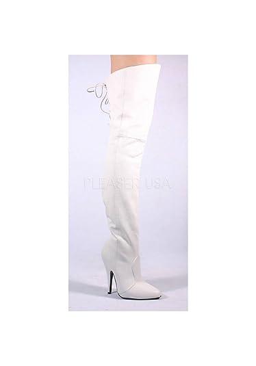 18e08ea57114c0 Pleaser Legend-8899 - Sexy Leder Overknee-Stiefel High Heels 36-48 ...