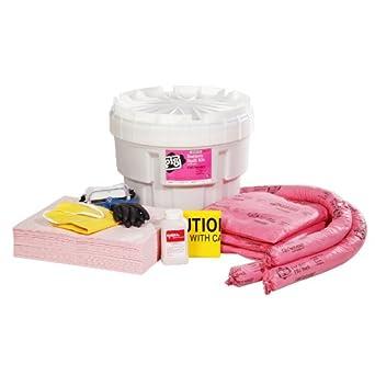 New Pig Kit352 63 Piece Battery Acid Spill Kit In 20