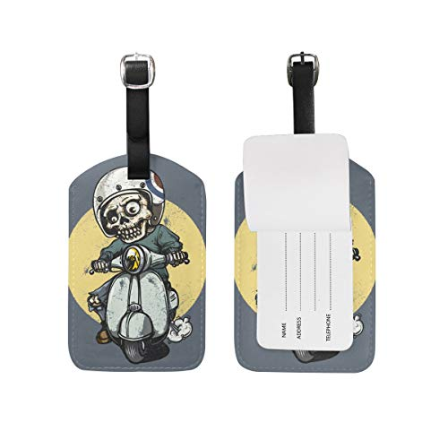 MACA Halloween Riding Zombie Travel Bag Suitcase ID Labels Tag for Baggage Suitcases Bags