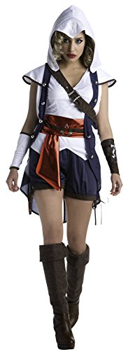 UHC Women's Assassin's Creed Connor Outfit Adult Fancy Dress Halloween Costume, S (6-8) -
