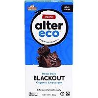 ALTER ECO Deep Dark Blackout Organic Chocolate Bar 80 g,  80 g