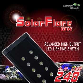 Deep bluee Professional ADB42848 48-Inch Solarflare Double LED Lighting Strips for Aquarium, 48 by 3-Inch