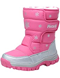Boys Girls Thickened Winter Snow Boots Outdoor Waterproof Hiking Boot Anti Slip Cold Weather Boot Cotton