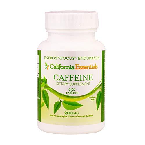 California Essentials Caffeine Pills – Energy Focus and Endurance Booster, Maximum Potency 200mg (250)