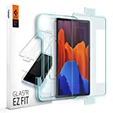 Spigen Tempered Glass Screen Protector [Glas.tR EZ Fit] Designed for Galaxy Tab S7 Plus/Galaxy Tab S7 + (12.4 inch) [9H Hardness/Case-Friendly] (Color: Glas.tR EZ FIT)
