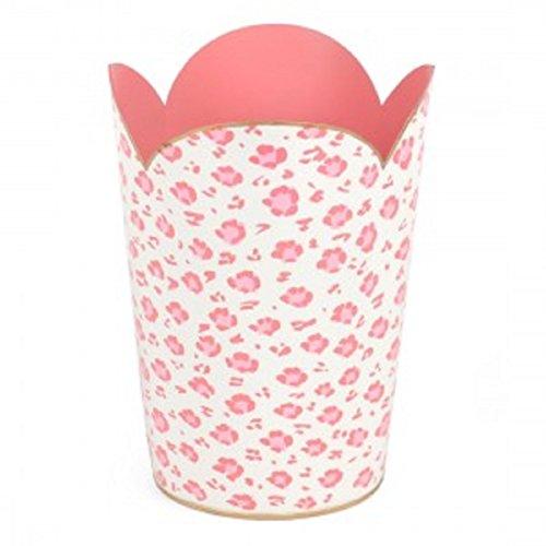 Girls Pink Hoary Garbage-Trash-Bin-Can-Basket-Wastebasket Rubbish Gift Home Bath Kitchen Room