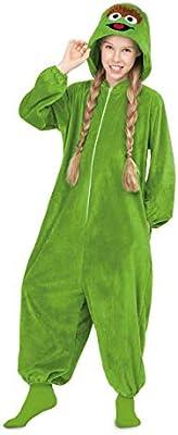 Barrio Sésamo Disfraz Pijama de Oscar el Gruñón para niños: Amazon ...
