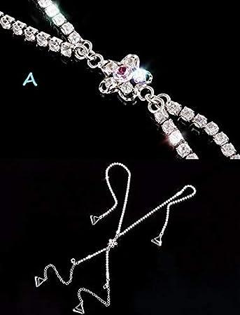 Color: A Dalab Women Wedding Dress Underwear Bra Decoration Accessory Cross Style Diamond Chain,Sexy Bra Strap 3 Styles S0269H