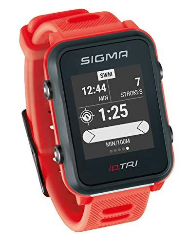 Sigma Sport iD.TRI GPS Triathlon-horloge met trainings- en wedstrijdfuncties, navigatie, Smart Notifications, licht en…