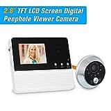 2.8'' TFT LCD Screen Digital Eye OWSOO Viewer Peephole Camera Door Monitor Electronic Digital Door Monitoring for Home Security Doorbell