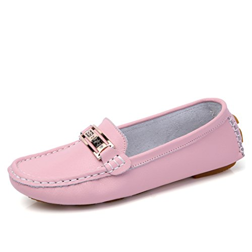 Women's Fashion Comfortable Driving Shoes(Pink) - 1