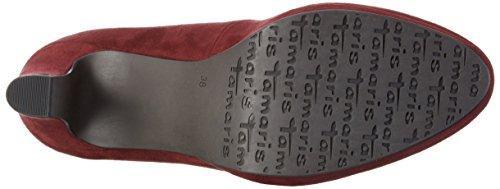 22420 558 mujer Rojo VINE tacón de Tamaris Zapatos para 68qw6gd