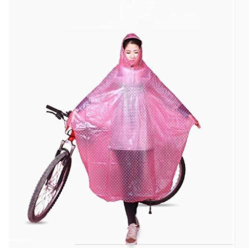 Impermeabile Impermeabile Impermeabile del Impermeabile alla Moda Poncho Poncho Poncho Poncho Donne E 1 Stlie Trasparente Capo Bici Esterna Pois Grazioso Raincoat 4UqwzW