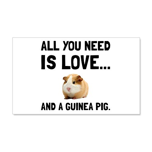 CafePress - Love and A Guinea Pig Wall Decal - 20x12 Wall Decal, Vinyl Wall Peel, Reusable Wall Cling