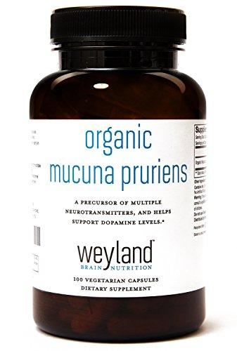 Weyland  Organic Mucuna Extract  100Mg Of L Dopa   100 Vegetarian Capsules