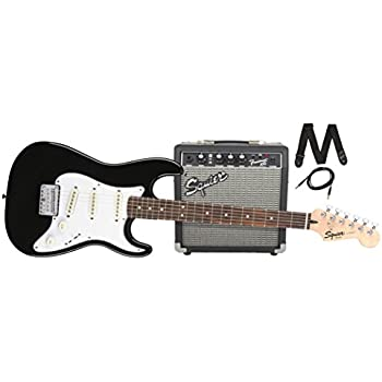 squier by fender stratocaster short scale beginner electric guitar pack with squier. Black Bedroom Furniture Sets. Home Design Ideas