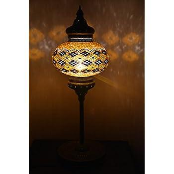 9 balls Turkish mosaic floor lamp handmade glass lighting ottoman ...