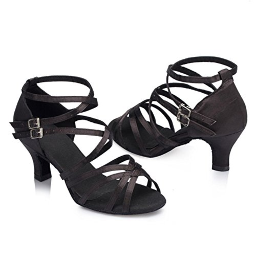 Monie , Damen Tanzschuhe , schwarz - schwarz - Größe: 40