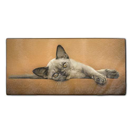YSKHDBC Towel Hanging Home Decor Shawl Towel Animal Cat Kitten Devon Rex