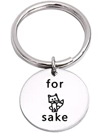 for Fox Sake Zero Fox Given Stainless Steel Funny Keychain Gift