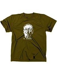 Hermann Hesse T-Shirt, Siddharta, unterm rad, steppenwolf, demian, M, oliv