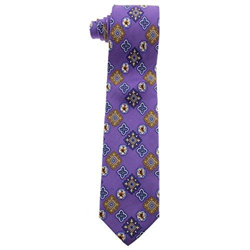 (Tommy Bahama Mens Tropic Medallion Silk Floral Neck Tie Purple O/S )