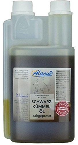 alanui Schwarzkümmelöl in der praktischen Dosierflasche (für Tiere), 1er Pack (1 x 500 ml) Makana 496