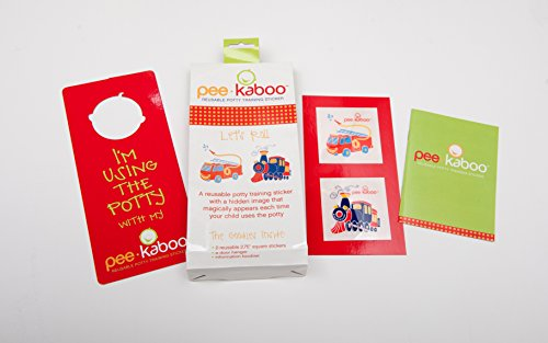 (Pee-kaboo Reusable Potty Training Sticker for Potty Chair - See an Image Magically Appear When They Pee,