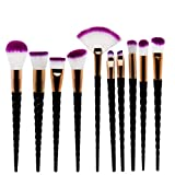 Best U-Beauty Liquid Foundation Brushes - Winter Lotuss Professional 10PCS Spiral White Handle Makeup Review