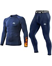 MeetHoo Thermo-ondergoed voor heren, functioneel ondergoed, thermo-ondergoed, onderhemd, onderbroek voor hardlopen