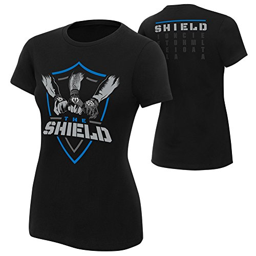 WWE The Shield Shield United Women's Authentic T-Shirt Black Medium by WWE Authentic Wear