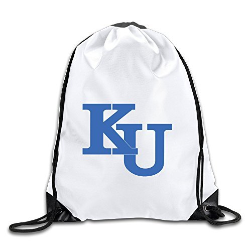 - Hunson - Geek University Of Kansas KU Logo Sport Bag Drawstring Sling Backpack For Men & Women Sackpack