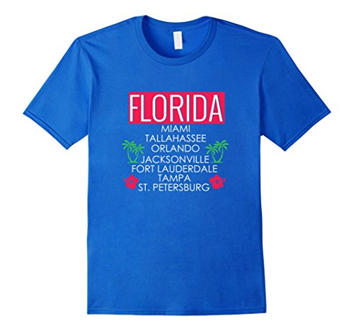 Florida Cities Palm Trees Flowers Men Women Youth - Where Shop In To Florida Orlando