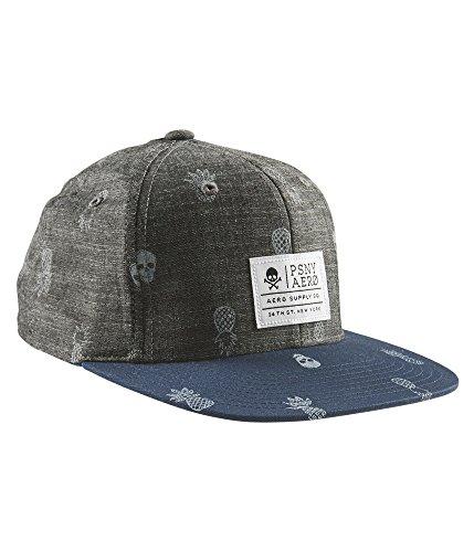 P.S. From Aeropostale Boys Pineapple Skull Flexfit Hat S/M Midnight Navy
