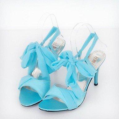 bellr V Stiletto–Plástico–Mujeres Sling–Sandalias (Negro/Azul/Rosa/Beige), fucsia, US9 / EU40 / UK7 / CN41 fucsia